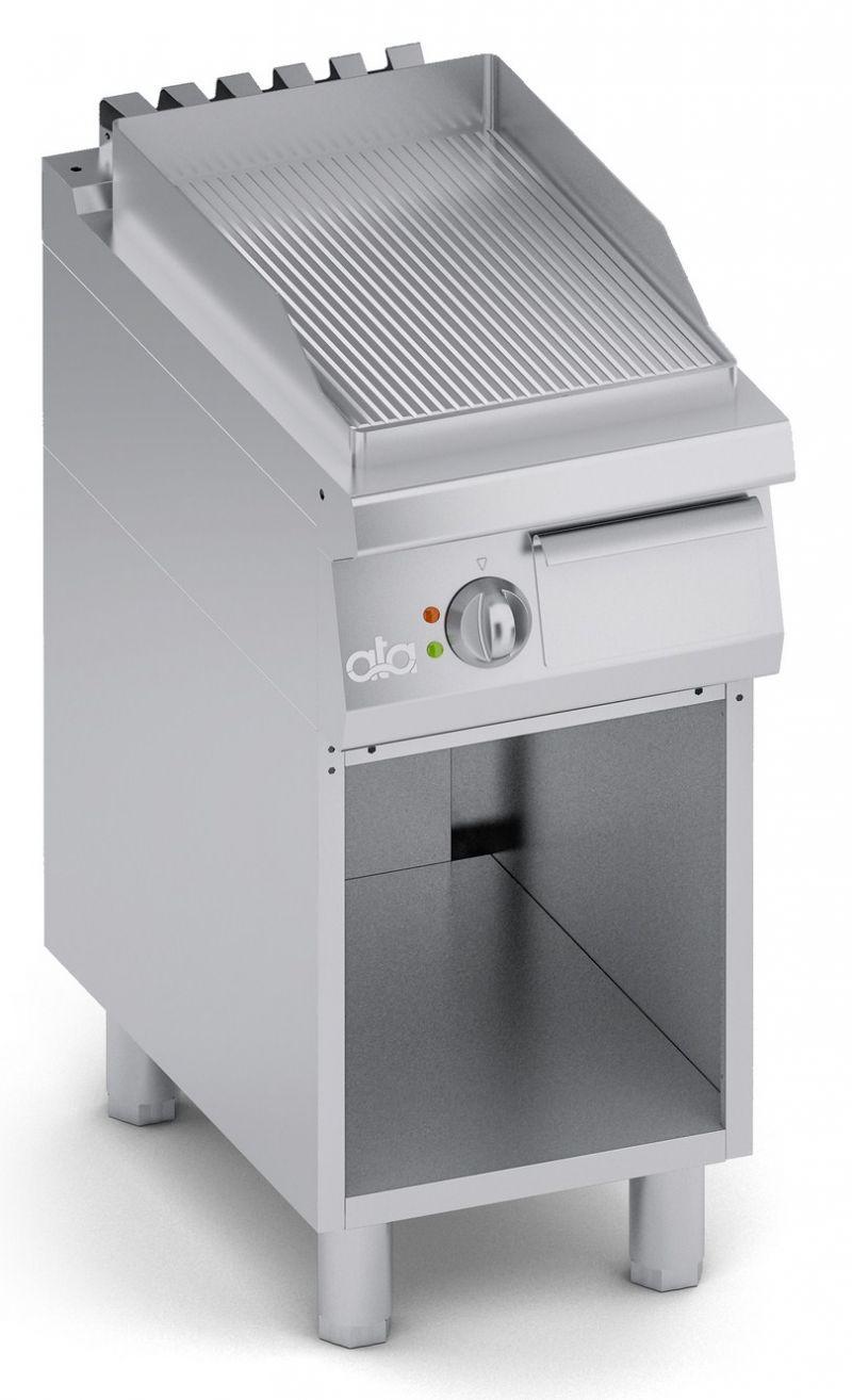 Grill |  Gratar simplu electric cu suport deschis si suprafata striata seria 700-ATA