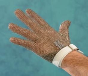 Manusa din zale pentru macelar curea textila, marime L