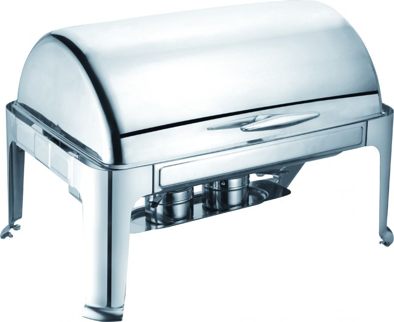 Chafing dish cu capac roll top