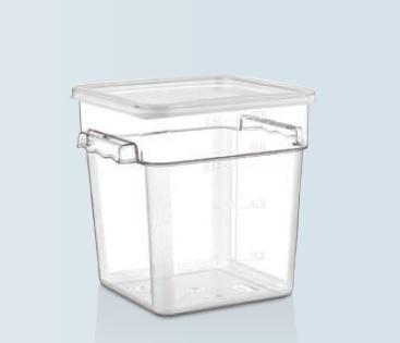 Container depozitare policarbonat cu capac 7,6 lt