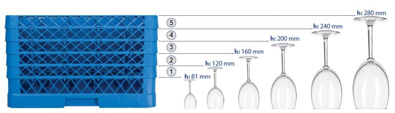 Cos pt. spalat pahare cu 9 compartimente