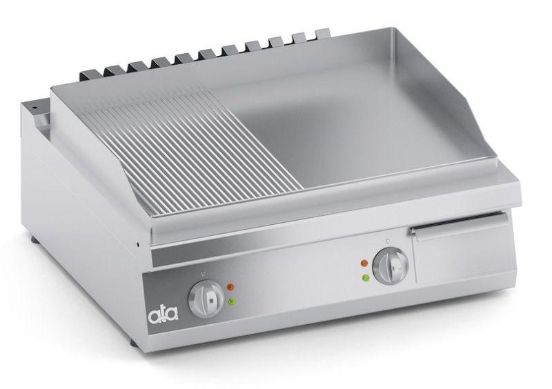 Grill | Gratar dublu electric de banc cu suprafata neteda si striata seria 700-ATA