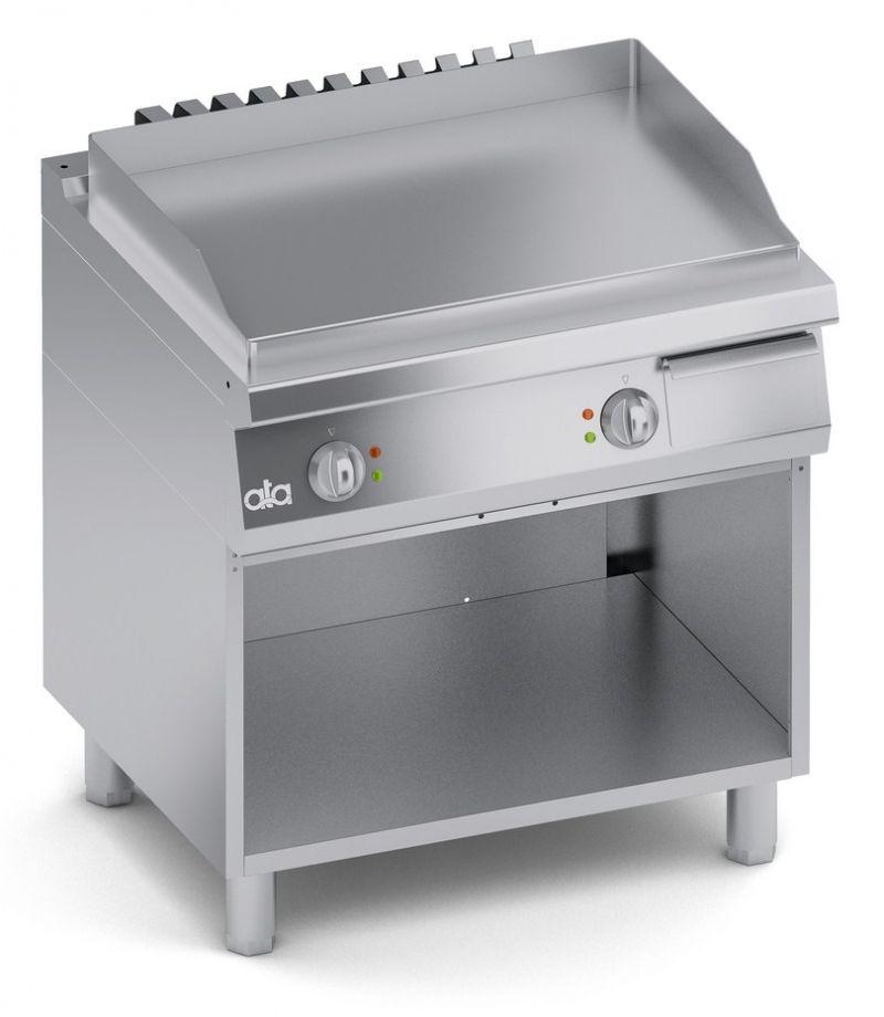 Grill | Gratar dublu electric cu suport deschis si suprafata neteda 700-ATA