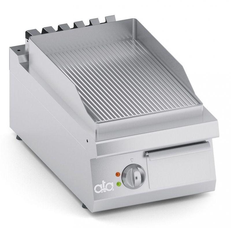 Grill | Gratar simplu electric de banc cu suprafata striata seria 700-ATA